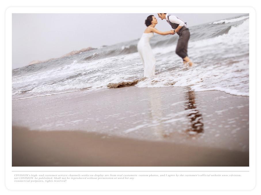 北戴河海景婚纱摄影,北戴河海景婚纱照 客片欣赏:等你